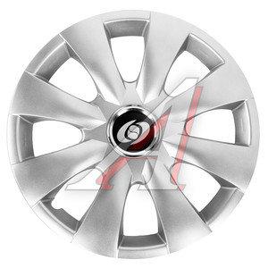 Колпак колеса R-15 декоративный серый комплект 4шт. универсальный 316 R-15, 316