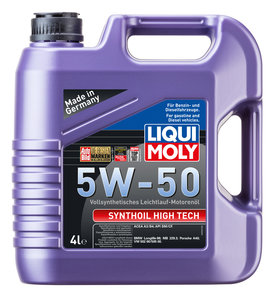 Масло моторное SYNTHOIL HIGH TECH синт.4л LIQUI MOLY LM SAE5W50 9067