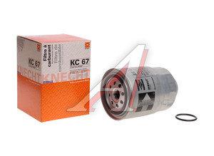 Фильтр топливный NISSAN Pathfinder R51M,Primera P10,P11,P12,X-Trail (01-) (D/TDI) MAHLE KC67, 16403-59E0A