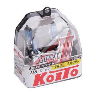 Лампа H8 12V 35W +70% Whitebeam бокс (2шт.) KOITO P0758W