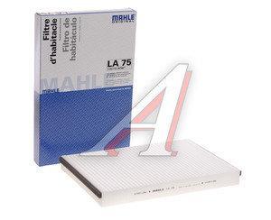 Фильтр воздушный салона OPEL Astra G (98-),H (04-) MAHLE LA75, 6808606