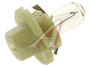 Лампа 12V BAX 1.3W BХ8.4d с зеленым патроном NARVA 17047, N-17047