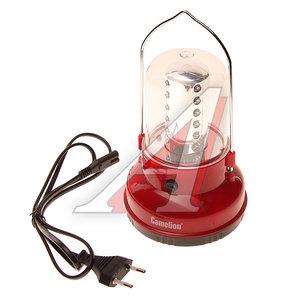 Фонарь 24 светодиода кемпенговый аккумуляторный 220V 17см CAMELION C-29312,