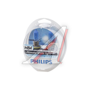 Лампа 12V HB4/9006 55W P22d 5000K бокс 2шт. Diamond Vision PHILIPS 9006DVS2, P-9006DV2
