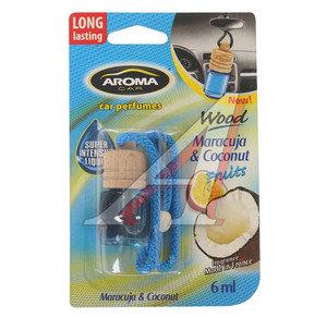 Ароматизатор подвесной жидкостный (маракуйя и кокос) с деревянной крышкой 6мл Car Wood AROMA PH\ Aroma Car Wood,
