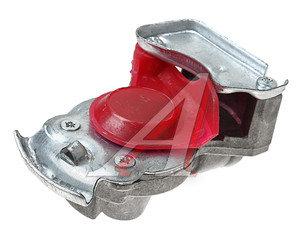 Головка соединительная тормозной системы прицепа 16мм (грузовой автомобиль) красная с клапаном 100-3521010 (красная), 867816 к, 100-3521010