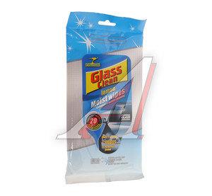 Салфетка влажная для очистки стекол 20шт. Glass Clean FALCON Glass Clean