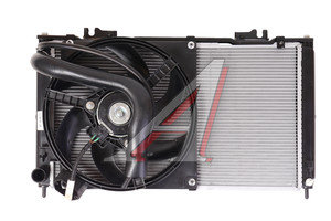 Радиатор ВАЗ-2190 алюминиевый в сборе с электровентилятором и патрубками 2190-1300010СБ, 219001300010СБ, 21900-1300010-01