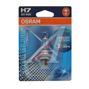 Лампа 12V H7 55W +20% PX26d 4200K блистер (1шт.) Cool Blue Intense OSRAM 64210CBI-01B, O-64210CBIбл, АКГ 12-55 (Н7)