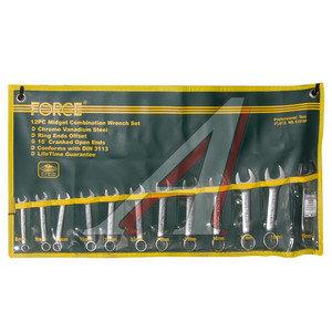 Набор ключей комбинированных 8-19мм 12 предметов в сумке укороченные FORCE F-51214P,