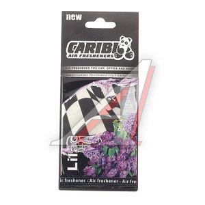 Ароматизатор подвесной пластина (сирень) флаг Formula-1 CARIBI CRB-F1 сирень