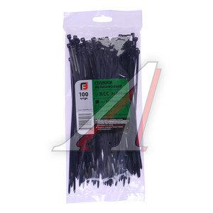 Хомут-стяжка 200х4.0 пластик черный (100шт.) FORTISFLEX 1004200-1, 49411