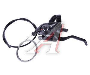 Шифтер тормозной руля левый 3 скорости тросс 1800мм SHIMANO черный ASTEF51LSBL