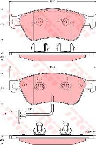 Колодки тормозные VW Phaeton AUDI A8 (03-) передние (4шт.) TRW GDB1553, 4E0698151J