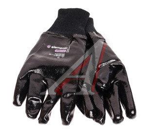 Перчатки текстильные с нитриловым покрытием черные BLACK CRYSTAL р.11 ELEMENTA EXPERT NC-204-11