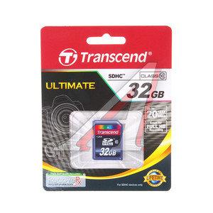 Карта памяти 32GB TRANSCEND SDHC CLASS 10 TRANSCEND 32Gb SDHC CLASS 10