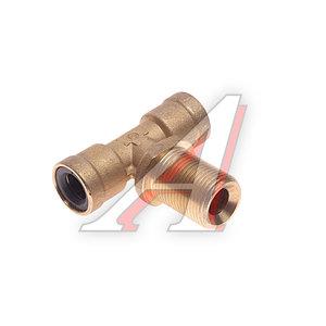 Соединитель трубки ПВХ,полиамид d=12мм-12мм (наружная резьба) М20х1.5 тройник латунь CAMOZZI 9410 12-M20X1,5,