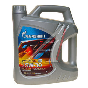 Масло моторное Premium L SL/CF п/синт A3/B3 3.50кг/4л GAZPROMNEFT GAZPROMNEFT SAE5W30