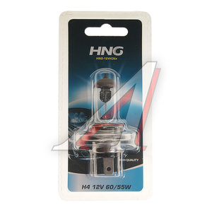 Лампа 12V H4 60/55W P43t-38 блистер (1шт.) HNG H4 АКГ 12-60+55-1 (H4)бл, HNG-12443бл, АКГ12-60+55-1(Н4)