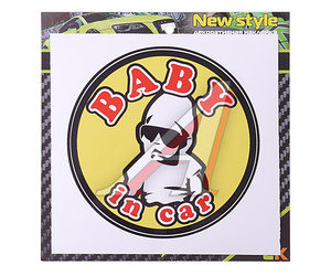 "Наклейка-знак виниловая ""Baby in car"" 12х12см MASHINOCOM VRC 426,"