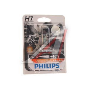 Лампа 12V H7 55W + 40% PX26d блистер 1шт. City Vision Moto PHILIPS 12972CTVBW, P-12972CTVBWбл