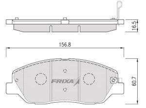 Колодки тормозные HYUNDAI Santa Fe (06-) передние (4шт.) HANKOOK FRIXA S1H18/S1K29, GDB3418, 58101-2BA00