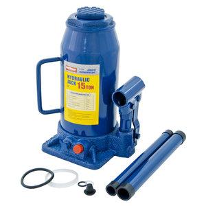 Домкрат бутылочный 15т 230-460мм с клапаном MEGAPOWER M-91504