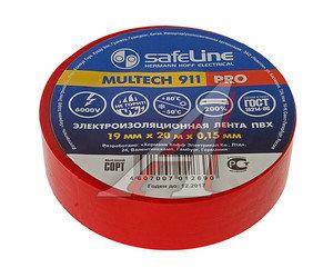 Изолента ПВХ красная 19ммх20м SAFELINE 9368, SAFELINE 19х20