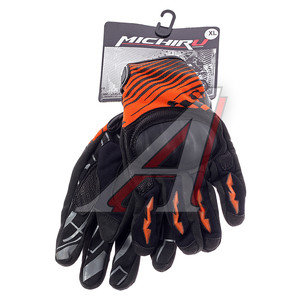 Перчатки мото G 9020 оранжевые XL MICHIRU G 9020, 4680329010865