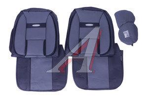 Авточехлы универсальные экокожа (AIRBAG) черные/т.серые (6 предм.) Transform Comfort AUTOPROFI TRS/COM-001G BK/D.GY