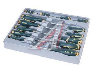 Набор отверток SL 3.0-SL8.0, PH1-PH3 силовых 14 предметов FORCE F-2142, 2142