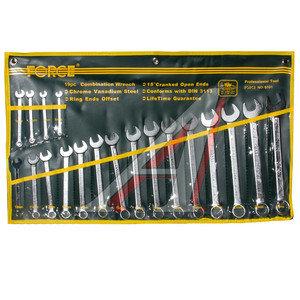 Набор ключей комбинированных 6-24мм 19 предметов в сумке изгиб 15град. FORCE F-5191
