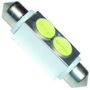 Лампа 12VхC10W (SV8.5/8) 42мм 2W свет-да WHITE MEGAPOWER 50433W, M-50433W-OLD