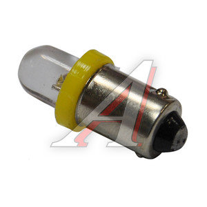 Лампа 12VхT4W (BA9s) ROUND YELLOW 1 свет-од MEGA ELECTRIC ME-0406Y,