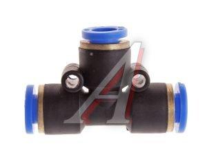 Соединитель трубки ПВХ,полиамид d=6мм тройник PUT06, АТ-352