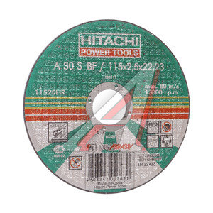 Круг отрезной по металлу 115х2.5х22 А24 HITACHI HTC-11525HR