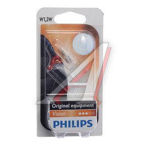 Лампа 12V W1.2W W2x4.6d бесцокольная блистер 2шт. PHILIPS 12516B2, P-12516-2бл