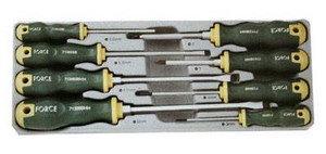 Набор отверток SL 3.0-SL8.0, PH1-PH2 силовых 8 предметов FORCE F-2084B, 2084B,