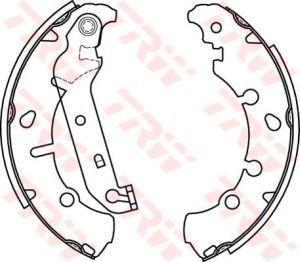 Колодки тормозные FORD Fusion, Fiesta, Ka MAZDA 2 задние барабанные (4шт.) TRW GS8454