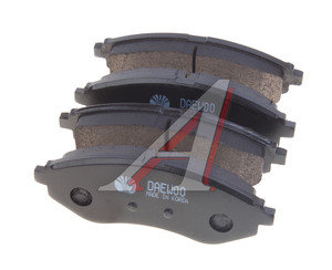 Колодки тормозные CHEVROLET Aveo передние (4шт.) DAEWOO 96534653, GDB3330