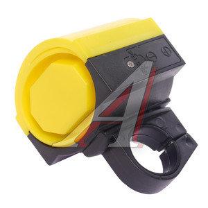 Звонок велосипедный электрический пластик DZ-11C черно-желтый *LU059737*, 210192,