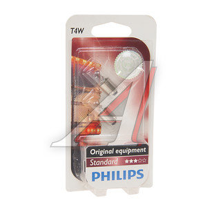 Лампа 24V T4W BA9s блистер 2шт. PHILIPS 13929B2, P-13929-2бл