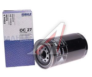 Фильтр масляный DAF F2100,2300,2500 MAHLE OC27, OC27/H19W01/0451203220/545085/35340/50013474/LF4154/1902136/5502094, 611049