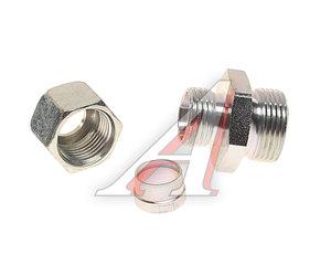 Штуцер соединительный прямой M22х12мм (фитинг резьбовой-гайка) сталь PE 07601500A, 032043709