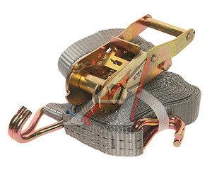 Стяжка крепления груза 1.5т 4м-25мм (полиэстр) с храповиком KRAFT 0097, 25.075.1.0.4000