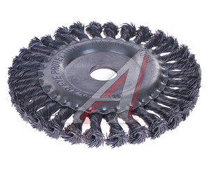 Кордщетка для УШМ дисковая 150мм крученая сталь 22мм MATRIX 74634