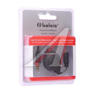 Кабель jack 3.5 0.8м черный рулетка BELSIS BELSIS BGL1180