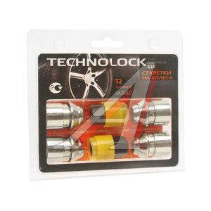 Гайка колеса М12х1.5х36 секретки прессшайба закрытая комплект 4шт. 2 головки 19мм TECHNOLOCK TECHNOLOCK T2, T2