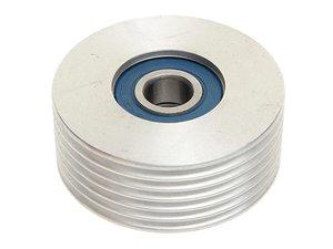 Ролик натяжной ЗМЗ-409 (ручейковый, под кондиционер) алюминиевый ЕВРО-2,3 ИМПУЛЬС 4091.1308080-02, ИЮАШ.303663.011/4216.1308080