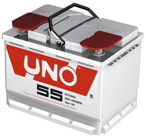 Аккумулятор UNO 62А/ч обратная полярность 6СТ62з, 83470,
